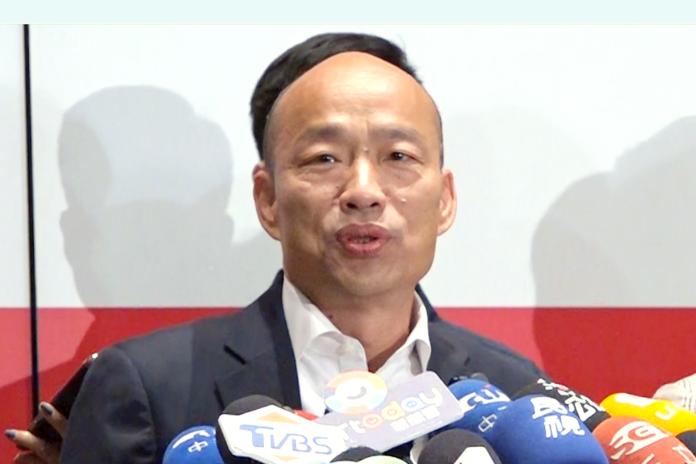 國民黨總統參選人韓國瑜。( 圖 / 記者朱永強攝 )