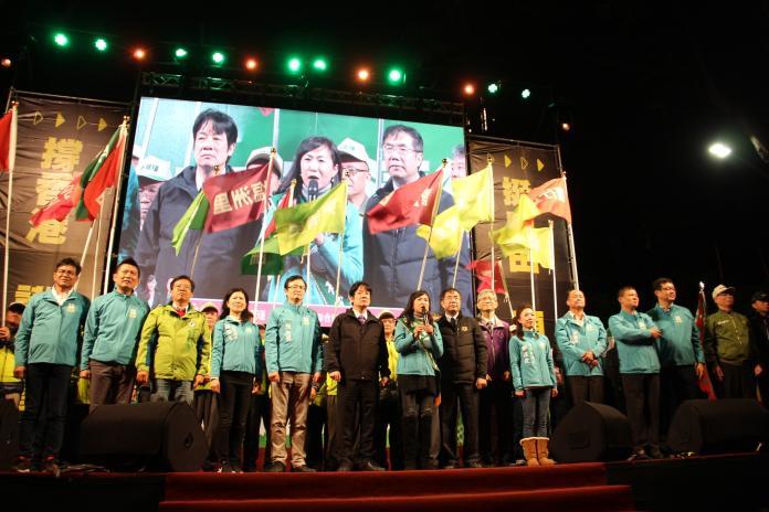 ▲賴清德表示,台南6席中,林宜瑾是最關鍵的一席。(圖/林宜瑾競選總部)