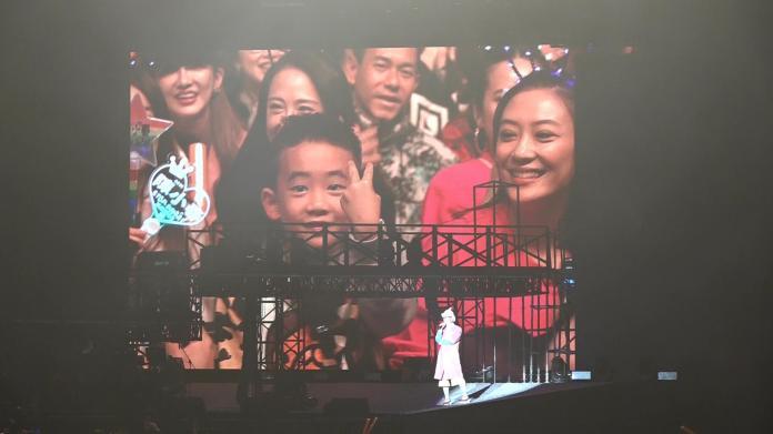 ▲陳小春演唱會宣布應采兒懷第二胎。(圖/記者林調遜攝,