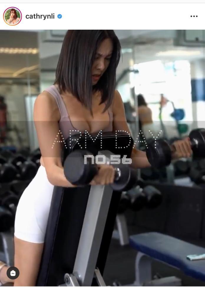 <br> ▲李元玲分享自己健身的實錄影片。(圖/翻攝IG)