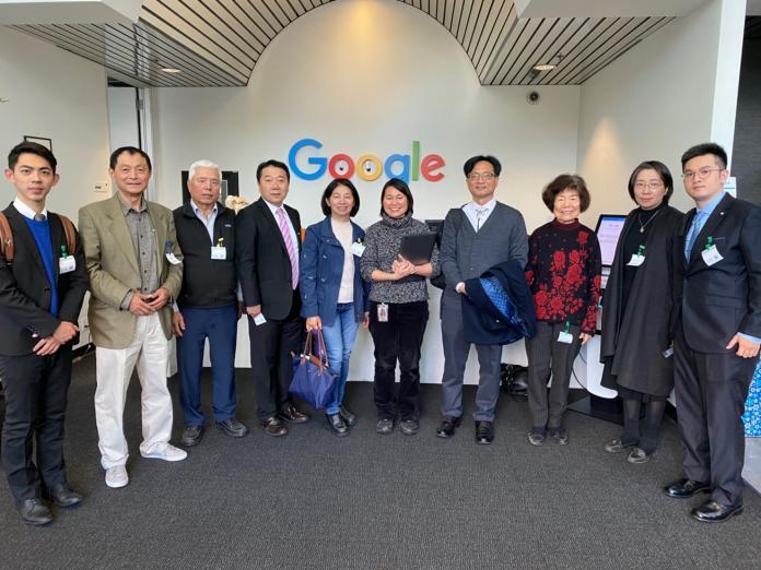 <br> ▲Google總公司的媒體暨娛樂商品部主管 Grace Kvamme(左6)熱烈接待林世賢(右4)等人。(圖/彰化市公所提供,2019.12.10)