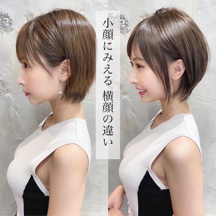 <br> ▲理髮前理髮後對照圖,因為模特兒的好身材,讓網友視線全歪。(圖/翻攝自推特)