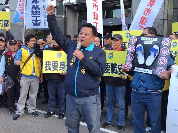 ▲全環總理事長蘇家源表示,清潔隊如同「沒有身分編制的孤兒」。(圖/記者賴志昶攝)
