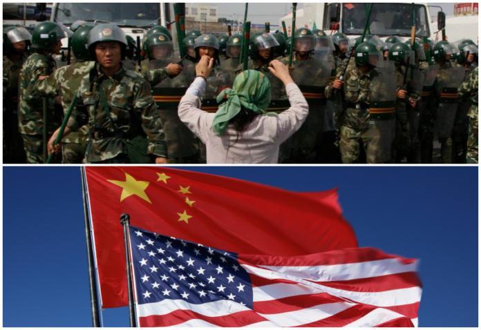 ▲新疆議題成為美中貿易戰之間的新戰場。(圖/美聯社/達志影像/網路)