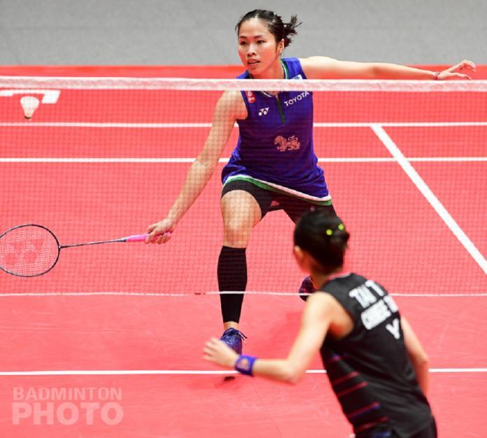 ▲泰國依瑟儂(正面)、戴資穎(圖/Badminton photo提供)