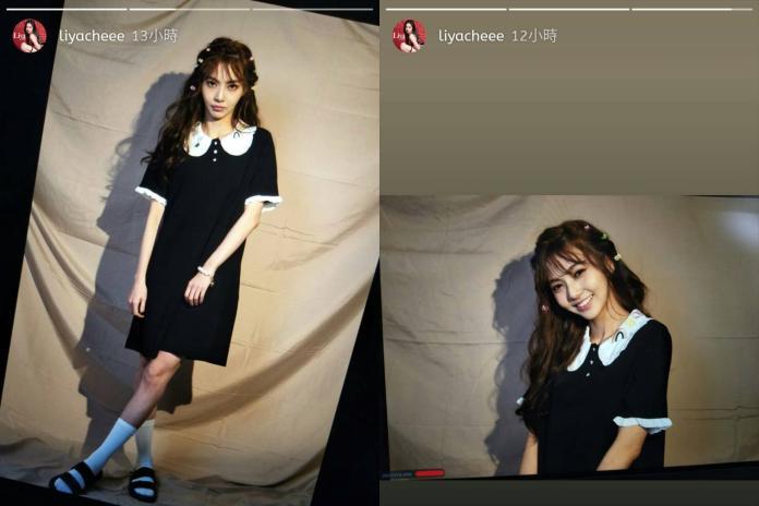 ▲莉婭最新照片的打扮,與閃照一模一樣。(圖/臉書)