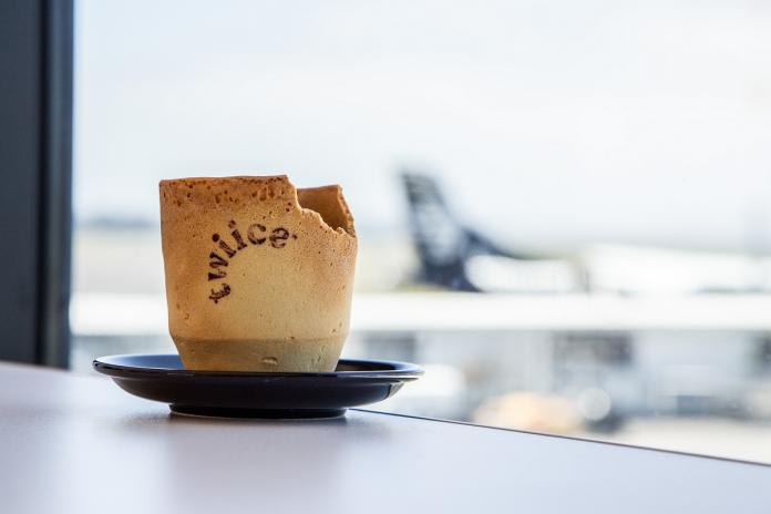 紐西蘭航空推可食用咖啡杯