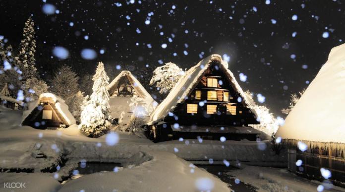 (圖2)冬天可以安排來日本名古屋五箇山,體驗一年一度的合掌村點燈活動