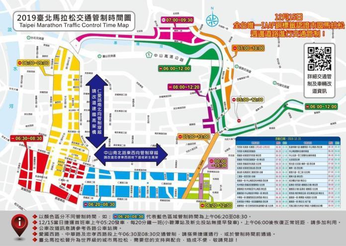 台北馬拉松15日開跑 北市全交管路段一次看