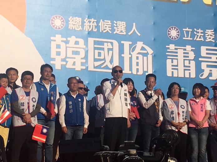 韓國瑜表示,民進黨一直講顧主權,就像是無聊的笑話。 (圖/韓國瑜競選辦公室提供)