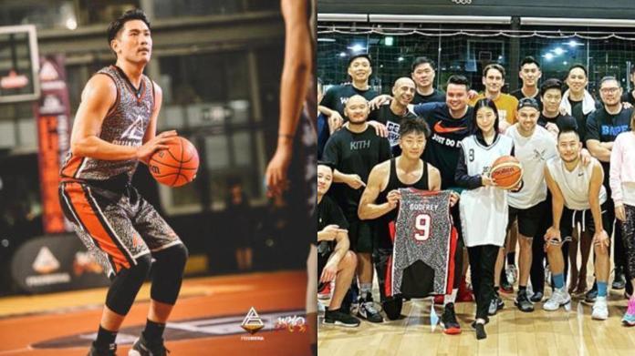 ▲高以翔生前愛打籃球,女友Bella套上男友最愛的9號球衣參加告別球賽。(圖/臉書、IG)
