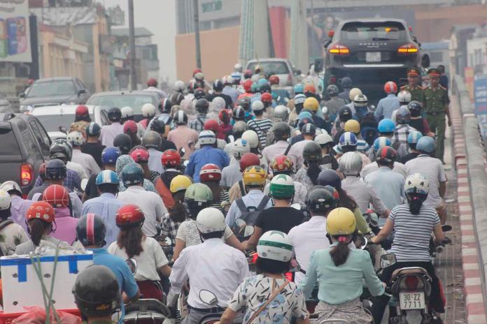 ▲越南首府河內空污嚴重。(圖/翻攝Saigoneer)