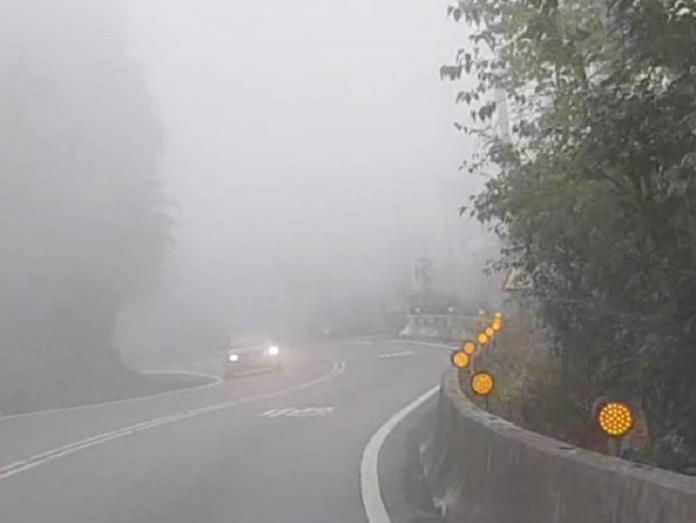 阿里山公路濃霧 用路人注意安全