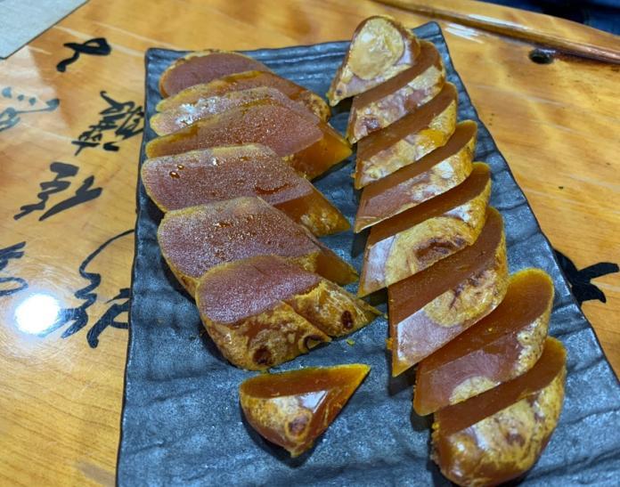 焦香美味的烏魚子。