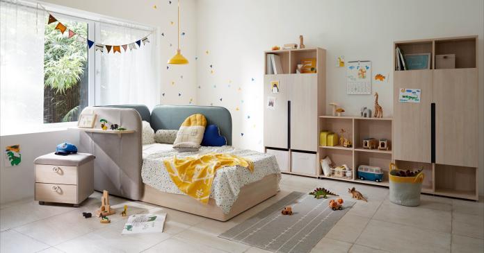 ▲專家指出,0-3歲幼兒階段,若能善用正確的家具營造具安全感的環境,能有助提升孩童專注力。圖為來自韓國的iloom兒童成長型家具品牌。(圖/iloom提供)