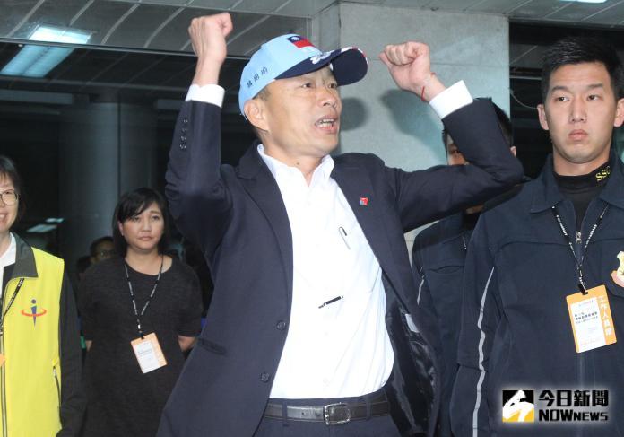 ▲韓國瑜出席第15任總統選舉候選人公辦電視政見發表會,