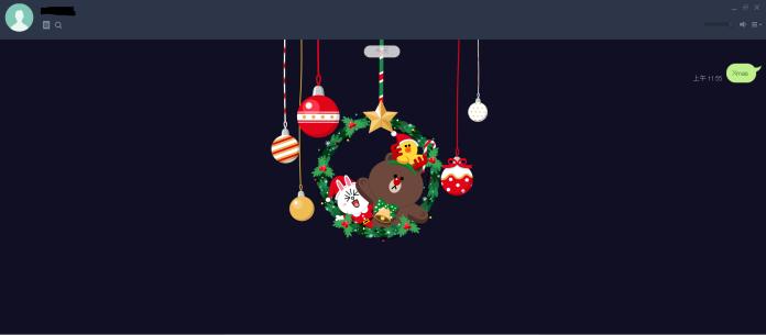 LINE<b>聊天室</b>3組咒語 召喚耶誕花圈熊大登場賀節