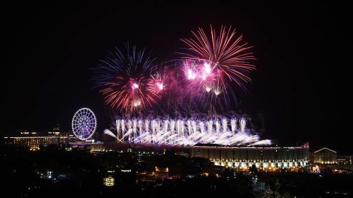 <br> ▲義大世界跨年重頭戲將施放「999秒大型藝術跨年煙火秀」。(圖/記者陳美嘉攝)