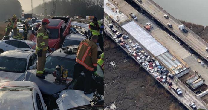 近70台車連環撞成一團!美國公路重大事故至少51傷