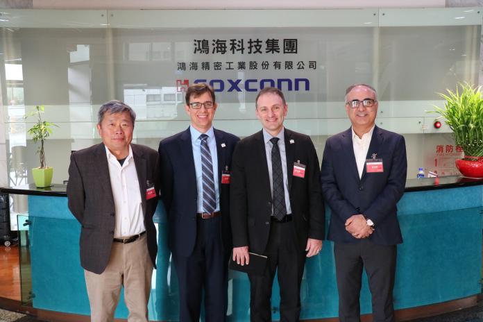 UWM工科院組團訪鴻海 打造產學合作、深化台美<b>人才培育</b>