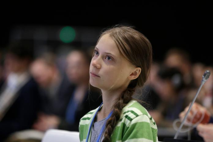 ▲瑞典環保少女通貝里,近日因在推特上發表指控中國污染環境的言論,引來中國官媒分社社長強烈不滿。資料照。(圖/美聯社/達志影像)