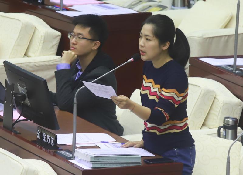 ▲國民黨台北市議員徐巧芯。(圖/記者葉政勳攝 , 2019.