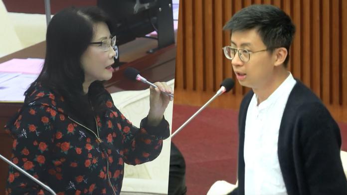 國民黨台北市議員秦慧珠、無黨籍台北市議員呱吉邱威傑。