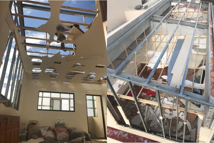 台南國安街民宅違章,工務局執行強制拆除