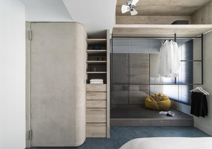 ▲「實牆結合衣櫃」能保持房間的寧靜,還可擁有大型的收納空間。(圖/南邑室內裝修設計提供)