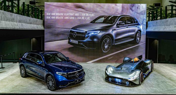 ▲Mercedes-Benz EQC 400 4MATIC ELECTRIC ART與EQC 400 4MATIC運動版的建議售價分別為新台幣330萬元及350萬元起。(圖/台灣賓士提供)