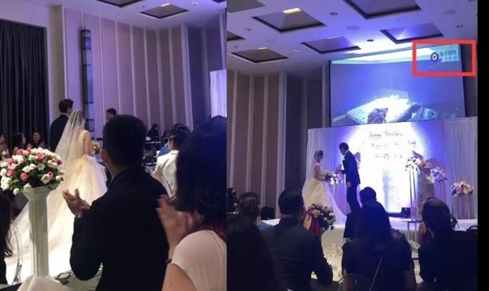▲新郎在婚禮上播女方偷情片,引發熱議。(圖/翻攝茄子視頻)