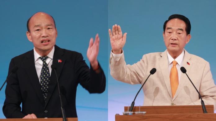 國民黨總統候選人韓國瑜、親民黨總統候選人宋楚瑜。