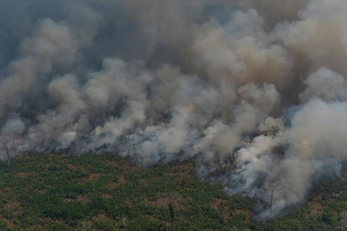 ▲ 2019 年亞馬遜雨林大火。資料照攝於 8 月。(圖/美聯社/達志影像)