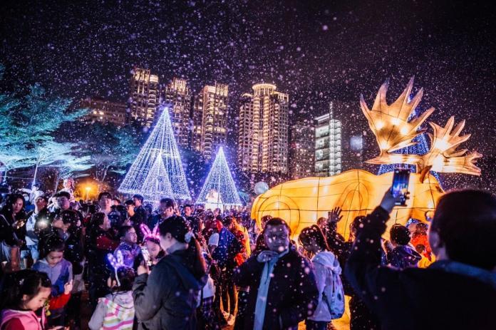 元旦跨年沒有規劃 來台灣燈會體驗細雪紛飛