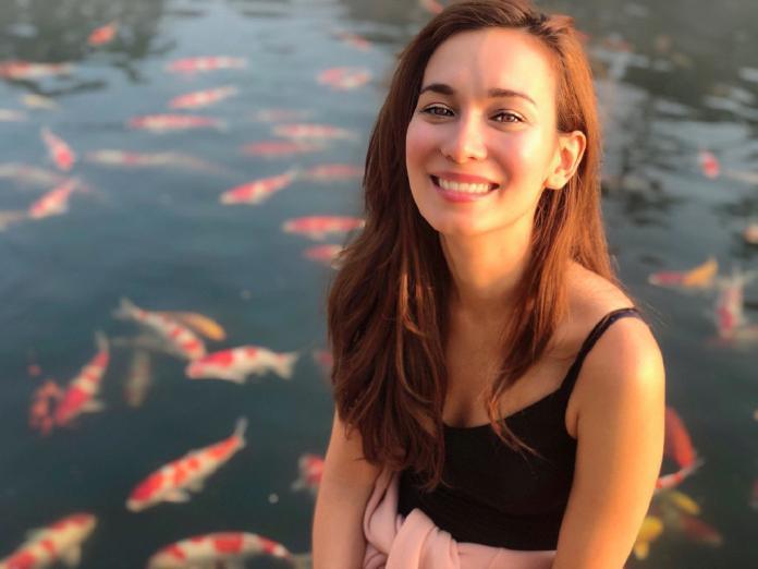 <br> ▲香港混血女星盧靖姍。(圖/微博)