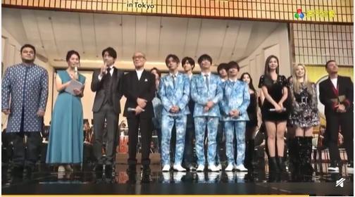 <br> ▲TWICE出席日本東京第8屆「ABU TV Song Festival」。(圖/翻攝微博)