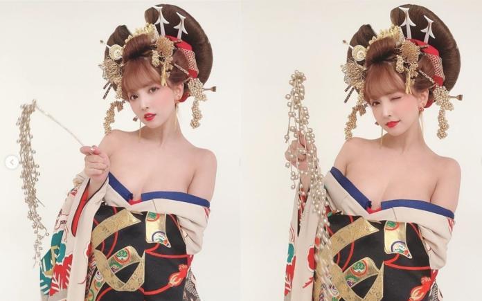 <br> ▲三上悠亞以一身日本傳統的花魁服飾亮相。(圖/翻攝IG)