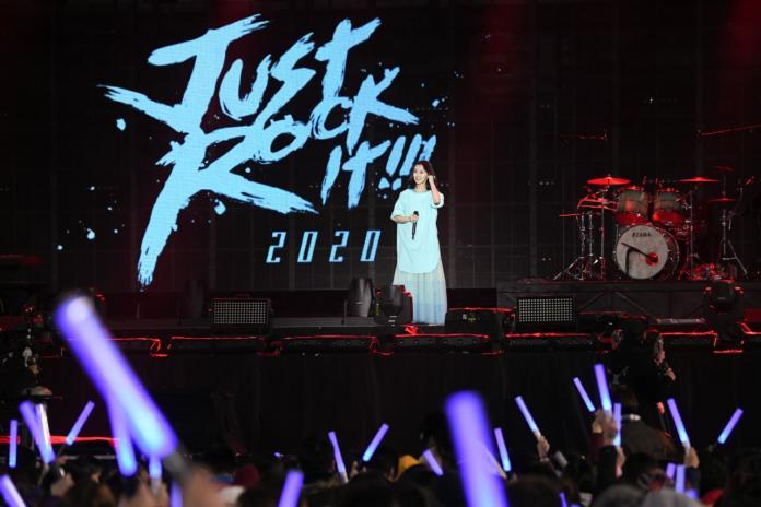 <br> ▲白安前來五月天的演唱會報到。(圖/相信音樂提供)