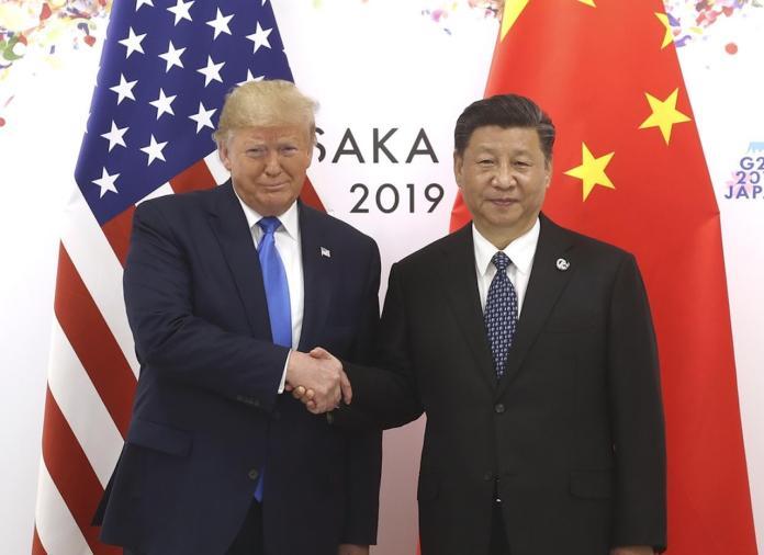 ▲中美領導人川普與習近平。(示意圖/翻攝自《香港 01 》)