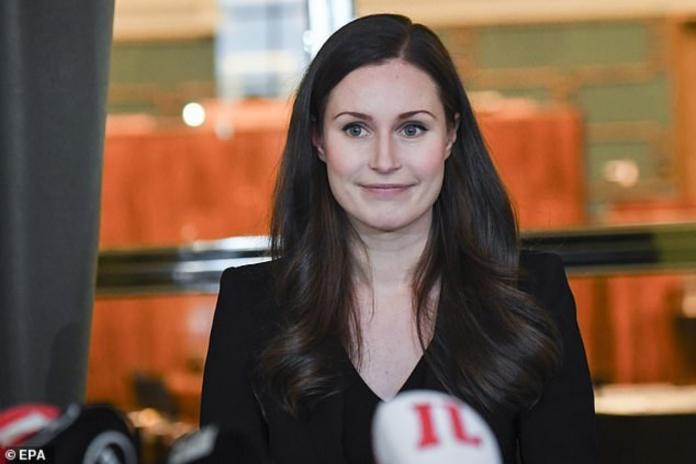 ▲芬蘭新任女總理馬林。(圖/翻攝自每日郵報)