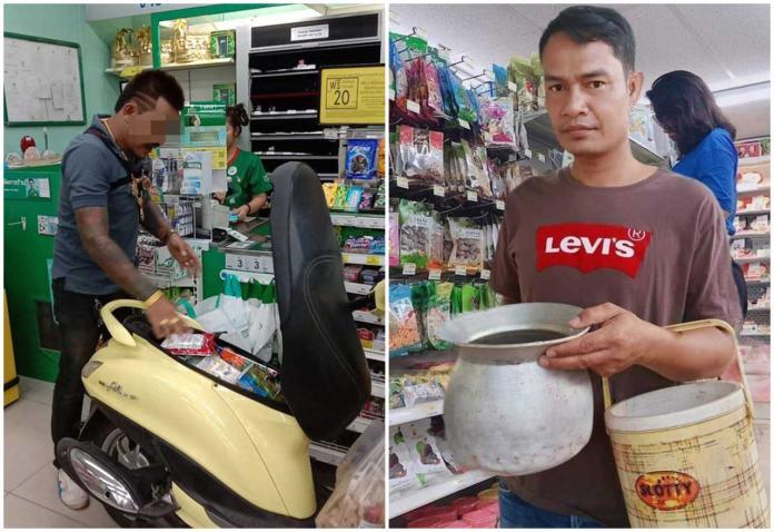 <b>泰國減塑</b>沒在怕!大哥「泰霸氣」機車打開秒變環保購物箱