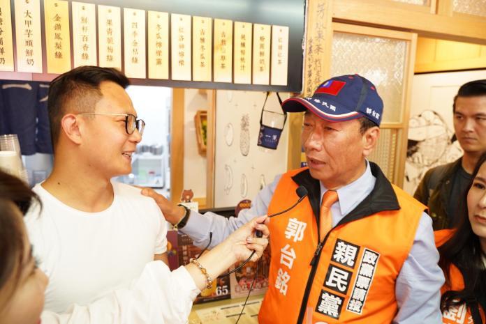 ▲鴻海集團創辦人郭台銘支持一芳,一芳董事長柯梓凱表示非常感謝。(圖/一芳提供)