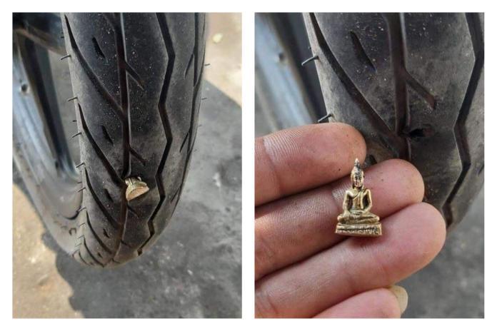 輪胎被刺破!一看竟是「泰國<b>佛像</b>」嚇壞 命理專家這樣說