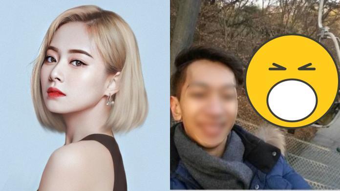 ▲TWICE成員周子瑜意外與幸運網友同框。(圖/推特、臉書)