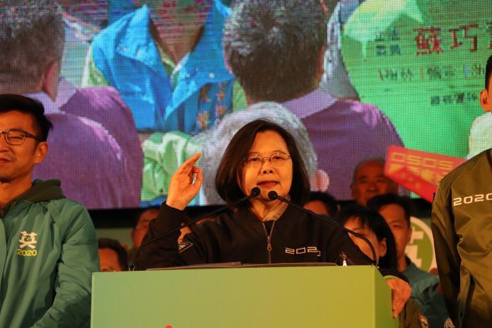選戰倒數三天!蔡英文造勢狂酸韓國瑜選舉「只有三招」