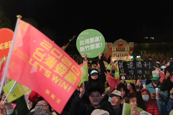 <br> ▲蔡英文總統8日晚間在新竹造勢,近萬民眾到場支持。(圖/記者劉育辰攝 2020.01.08)