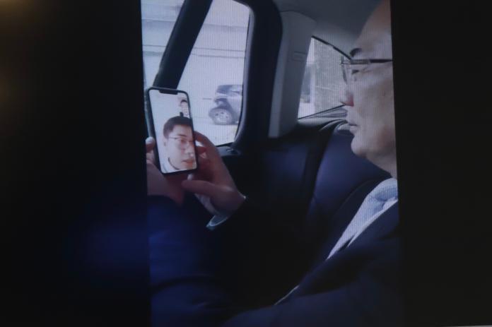 ▲國民黨義務副祕書長蔡正元9日公布他與「假共諜」王立強的完整4分鐘視訊對話。(圖 / 記者葉政勳攝)