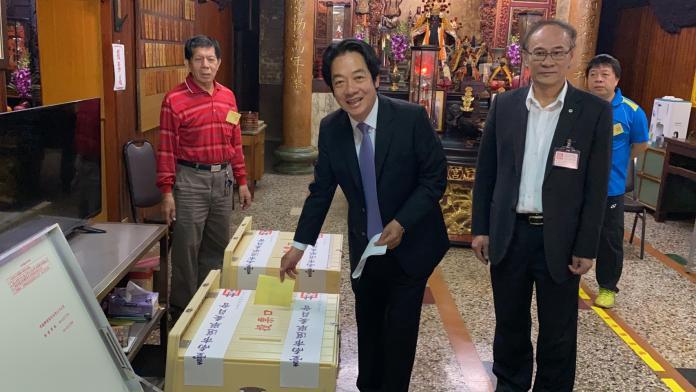 <br> ▲賴清德鼓勵國人踴躍投票,尤其是年輕人。(圖/記者陳聖璋攝,2020.01.11)