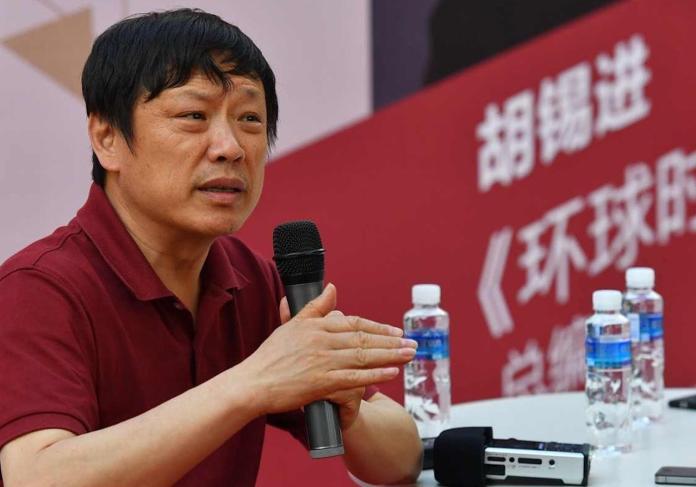 胡錫進推文批蔡總統講話 在大陸卻避談六四