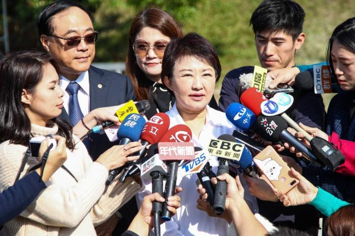 ▲市長盧秀燕表示,人民透過這次投票結果,清楚表達對國家路線的看法 (圖/柳榮俊攝2020.1.13)